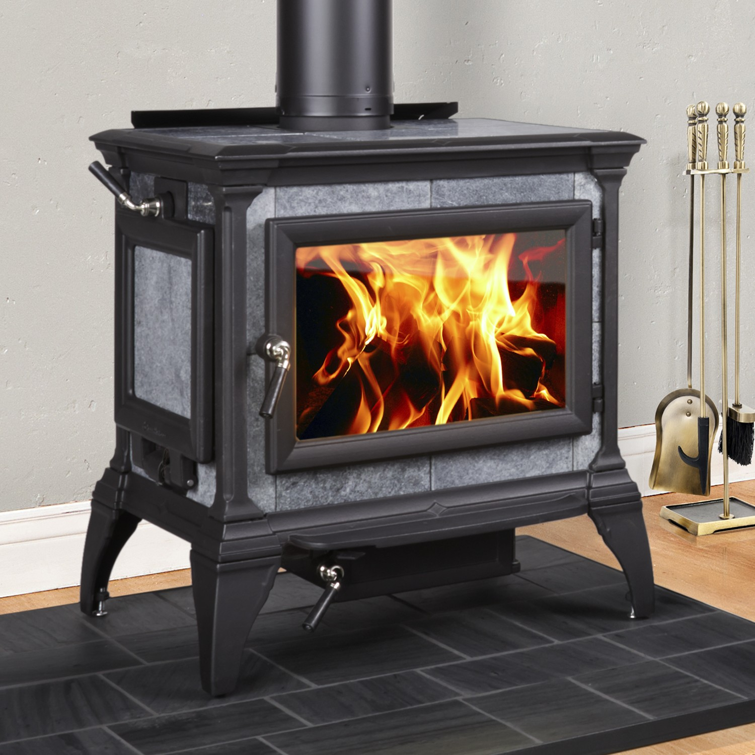 Hearthstone Heritage 8022 Soapstone Wood Stove Evergreen
