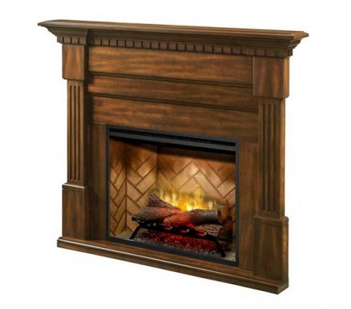Dimplex Christina BuiltRite Mantel Only with Walnut Finish