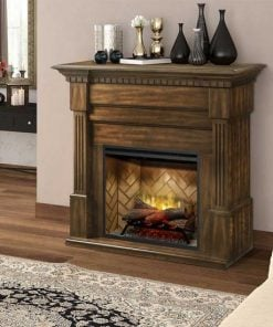 Dimplex Christina BuiltRite Fireplace Bundle with Walnut Finish