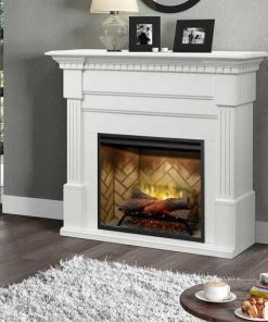 Dimplex Christina BuiltRite Fireplace Bundle with White Finish