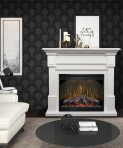 Dimplex Essex Mantel with Electric Firebox and Logs
