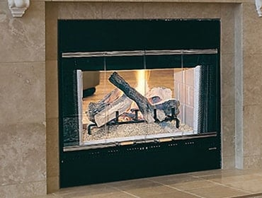 HST SEE-THROUGH WOOD FIREPLACE