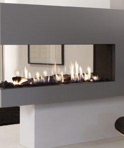 EH Lucius 140 Peninsula Gas Fireplace