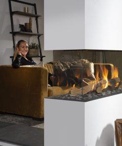 EH Summum 140 R Peninsula Gas Fireplace